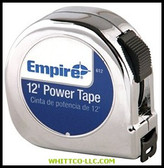 """5/8""""X12' POWER TAPE W/BLACK CASE 612 272-612 WHITCO Industiral Supplies"""