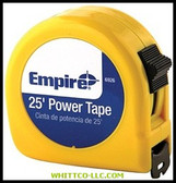 "1""X25' POWER MEASURING TAPE W/BLACK
