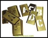"3"" 33PC BRASS STENCIL LETTER SET