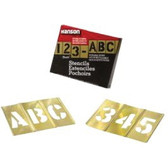 "92PC 2"" LETTERS & NUMBERS STENCIL SET"