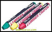 YELLOW-LUMB CRAYON MARKER|80321|434-80321|WHITCO Industiral Supplies