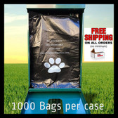 Dog Waste Bags fits MuttMitt Paw Pal,Dogpoopbags non oem refills (PWB1000F)