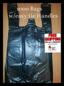 TIE EZ Bags ( Dog poop bags with handles PWB1000-EZ easy tie ) (PWB1000-EZ)