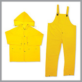 Basic Issue-BI-R010-2-Rainwear-85027-BI 0.35mm 3 Pc. PVC  Poly Rainsuit