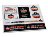 WORK WEAR STICKER-LF-Land of the Free Stickers  : 8 1/2 x 11 :