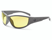 Njord-Safety Glasses  : Yellow Lens : Matte Gray