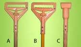 JANITOR PLASTIC  SWING AWAY WOOD HANDLE (A)