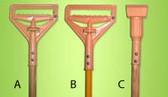 PLASTIC JAW CLAMP Wood Handle ( C )
