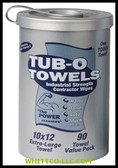 TUB O'TOWELS HAND/HARD SURFACE 90 CT|TW90|296-TW90|WHITCO Industiral Supplies