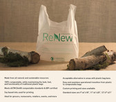 11x6x20 Compostable T-Shirt Bags .8 MIL 1000 Bags per case