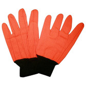 2806CDB HI-VIS ORANGE DOUBLE PALM  POLYESTER/COTTON CORDED CANVAS  BLACK KNIT WRIST Cordova Safety Products