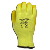 3051M POWER-COR ULTRA™ HI-VIS YELLOW  10-GAUGE HPPE/STEEL/GLASS SHELL  YELLOW LATEX PALM COATING  ANSI CUT LEVEL 5 Cordova Safety Products