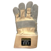 3756XXL MONARCH™ LEATHER PALM/SELECT SHOULDER LEATHER PALM  WHITE CANVAS BACK  SAFETY CUFF  FULL TAEKI5® LINING  ANSI CUT LEVEL 4 Cordova Safety Products