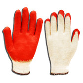 3890L ECONOMY  10-GAUGE  NATURAL MACHINE KNIT  RED SMOOTH LATEX PALM COATING Cordova Safety Products