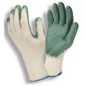 3892S STANDARD  10-GAUGE  NATURAL MACHINE KNIT  GREEN SMOOTH LATEX PALM COATING Cordova Safety Products