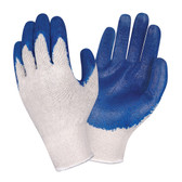 3893L STANDARD  10-GAUGE  NATURAL MACHINE KNIT  BLUE SMOOTH LATEX PALM COATING Cordova Safety Products