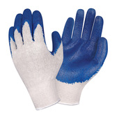 3893XL STANDARD  10-GAUGE  NATURAL MACHINE KNIT  BLUE SMOOTH LATEX PALM COATING Cordova Safety Products
