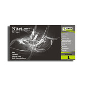 4090S NITRI-COR SILVER™ NITRILE  INDUSTRIAL GRADE  POWDERED  TEXTURED  4-MIL Cordova Safety Products