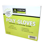 4100XL LDPE (LOW DENSITY)  POLYETHYLENE GLOVES  EMBOSSED  1.25-MIL Cordova Safety Products