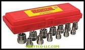 "13 PIECE BOLT EXTRACTORSET 1/4-3/4"" W/3/8"" DRV