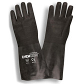 5814R CHEM-COR™ BLACK SUPPORTED NEOPRENE  ROUGH FINISH  JERSEY LINED  14-INCH Cordova Safety Products