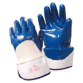 6960L BRAWLER™ PREMIUM DIPPED NITRILE  PALM COATED  JERSEY LINED  SAFETY CUFF  SANITIZED® Cordova Safety Products