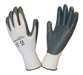 6892S COR-TOUCH II™ 13-GAUGE  WHITE POLYESTER SHELL  GRAY FLAT NITRILE PALM COATING Cordova Safety Products