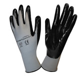 6894XS COR-TOUCH II™ 13-GAUGE  GRAY POLYESTER SHELL  BLACK FLAT NITRILE PALM COATING  Cordova Safety Products