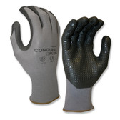 6915XS CONQUEST PLUS™  PREMIUM  GRAY NYLON/SPANDEX SHELL  BLACK FOAM NITRILE/PU PALM COATING  BLACK NITRILE DOTS Cordova Safety Products
