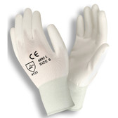 6895CM STANDARD  13-GAUGE  WHITE NYLON SHELL  WHITE POLYURETHANE PALM COATING Cordova Safety Products