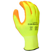 6901XL COR-BRITE™ 13-GAUGE  HI-VIS YELLOW POLYESTER SHELL  HI-VIS ORANGE POLYURETHANE PALM COATING Cordova Safety Products