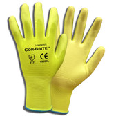 6902XL COR-BRITE™ 13-GAUGE  HI-VIS YELLOW POLYESTER SHELL  HI-VIS YELLOW POLYURETHANE PALM COATING Cordova Safety Products
