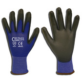 6903M COR-TOUCH CONNECT™ 13-GAUGE  BLUE NYLON SHELL  TOUCH SCREEN THUMB  INDEX & MIDDLE FINGER  BLACK POLYURETHANE PALM COATING Cordova Safety Products