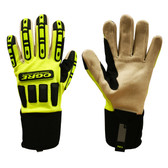 7720XL OGRE™  LIME GREEN SPANDEX BACK  CORDED CANVAS PALM  TPR PROTECTORS  NEOPRENE CUFF Cordova Safety Products