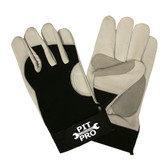 77971 PIT PRO™  GOATSKIN DOUBLE PALM  BLACK SPANDEX BACK  KEYSTONE THUMB  HOOK & LOOP CLOSURE  LARGE Cordova Safety Products