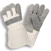 1040XL SIDE SPLIT LEATHER  WHITE CANVAS BACK  RUBBERIZED GAUNTLET CUFF  KEVLAR® SEWN Cordova Safety Products
