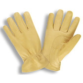 8570XL SELECT GRAIN GOATSKIN DRIVER  GOLD COLOR  FANCY THUMB PATCH  DOUBLE STITCHED PALM  SHIRRED ELASTIC BACK  KEYSTONE THUMB Cordova Safety Products