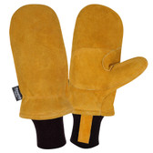 FB300M FREEZEBEATER® PREMIUM RUSSET SIDE SPLIT COWHIDE MITTEN  DOUBLE PALM & REINFORCED CROTCH  C150 THINSULATE® LINED  HEAVY NYLON KNIT WRIST Cordova Safety Products