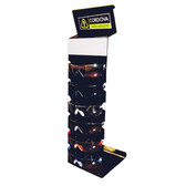 ED001 SIX-UNIT EYEWEAR DISPLAY  MIRROR  CORDOVA SAFETY PRODUCTS LOGO Cordova Safety Products