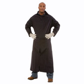 "RC35BL RENEGADE™ .35 MM PVC/POLYESTER  BLACK  2-PIECE RAIN COAT  CORDUROY COLLAR  STORM FLY FRONT WITH SNAP BUTTONS  VENTILATED BACK/UNDERARMS  49"" LENGTH  DETACHABLE HOOD Cordova Safety Products"