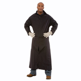 "RC35B60XL RENEGADE™ .35 MM PVC/POLYESTER  BLACK 2-PIECE RIDING COAT  LEG STRAPS  CORDUROY COLLAR  STORM FLY FRONT WITH SNAP BUTTONS  VENTILATED BACK/UNDERARMS  60"" LENGTH  DETACHABLE HOOD Cordova Safety Products"