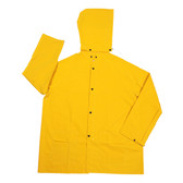 RJ352YS STORMFRONT™ .35 MM PVC/POLYESTER  YELLOW 2-PIECE RAIN JACKET  CORDUROY COLLAR  STORM FLY FRONT WITH ZIPPER/SNAP BUTTONS  DETACHABLE HOOD Cordova Safety Products