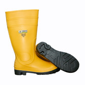 PB3308 YELLOW PVC/NITRILE BOOT WITH BLACK PVC/NITRILE SOLE  EVA INSOLE  STEEL TOE & MIDSOLE  COTTON LINED  16-INCH LENGTH  OVER-THE-SOCK STYLE  SIZE 8 Cordova Safety Products