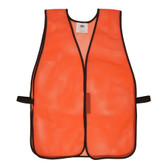 V100 GENERAL PURPOSE  NON-RATED  ORANGE MESH VEST  HOOK & LOOP CLOSURE  NO REFLECTIVE TAPE Cordova Safety Products