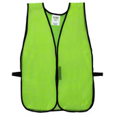 V101 GENERAL PURPOSE  NON-RATED  LIME MESH VEST  HOOK & LOOP CLOSURE  NO REFLECTIVE TAPE Cordova Safety Products