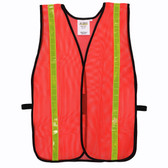 V110L GENERAL PURPOSE  NON-RATED  ORANGE MESH VEST  HOOK & LOOP CLOSURE  1-INCH LIME REFLECTIVE TAPE Cordova Safety Products