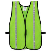 V111W GENERAL PURPOSE  NON-RATED  LIME MESH VEST  HOOK & LOOP CLOSURE  1-INCH SILVER REFLECTIVE TAPE Cordova Safety Products