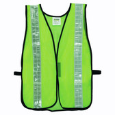 V121W GENERAL PURPOSE  NON-RATED  LIME MESH VEST  HOOK & LOOP CLOSURE  2-INCH SILVER REFLECTIVE TAPE Cordova Safety Products