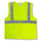 V211P2XL CLASS II  LIME MESH VEST  HOOK & LOOP CLOSURE  2-INCH SILVER REFLECTIVE TAPE Cordova Safety Products