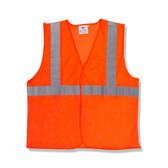 V210PM CLASS II  ORANGE MESH VEST  HOOK & LOOP CLOSURE  2-INCH SILVER REFLECTIVE TAPE  Cordova Safety Products